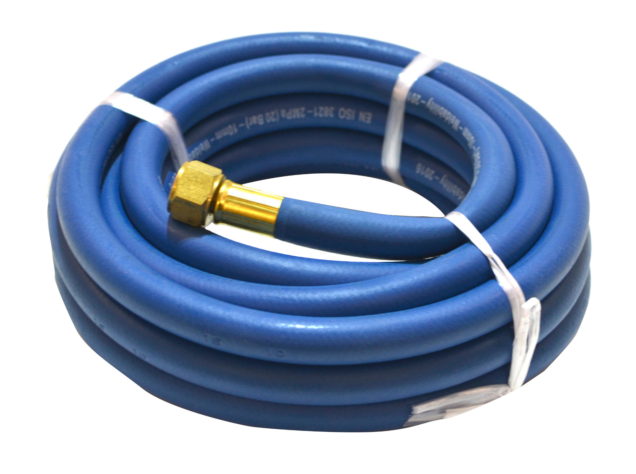 10MM 20MTR 3/8 FITTED BLUE HOSE