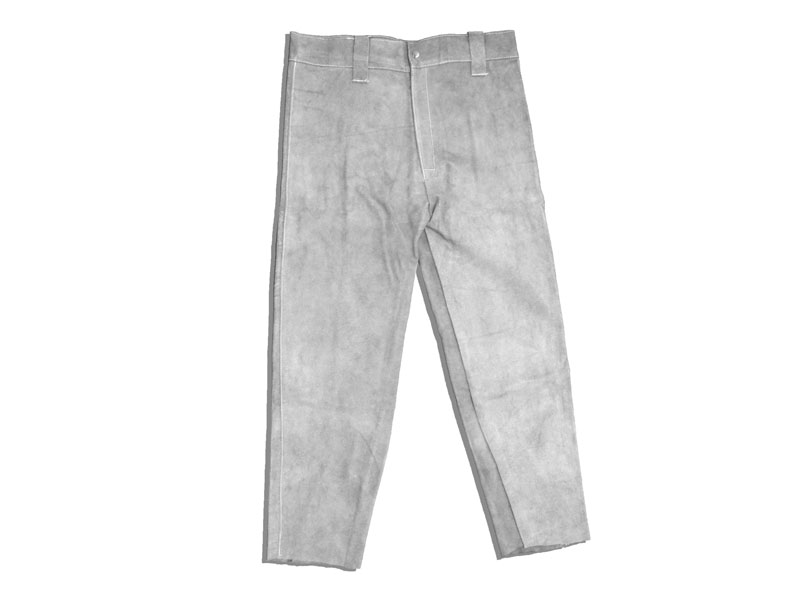 CHROME LEATHER TROUSERS - M